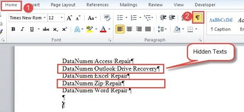 4 Easy Ways to Find Hidden Texts in Your Word Document