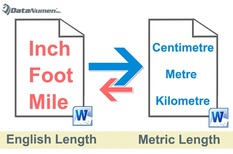 Convert from English to Metric Length and Vice Versa