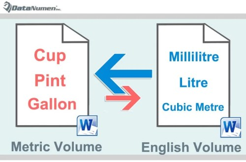 Convert from English to Metric Volume and Vice Versa