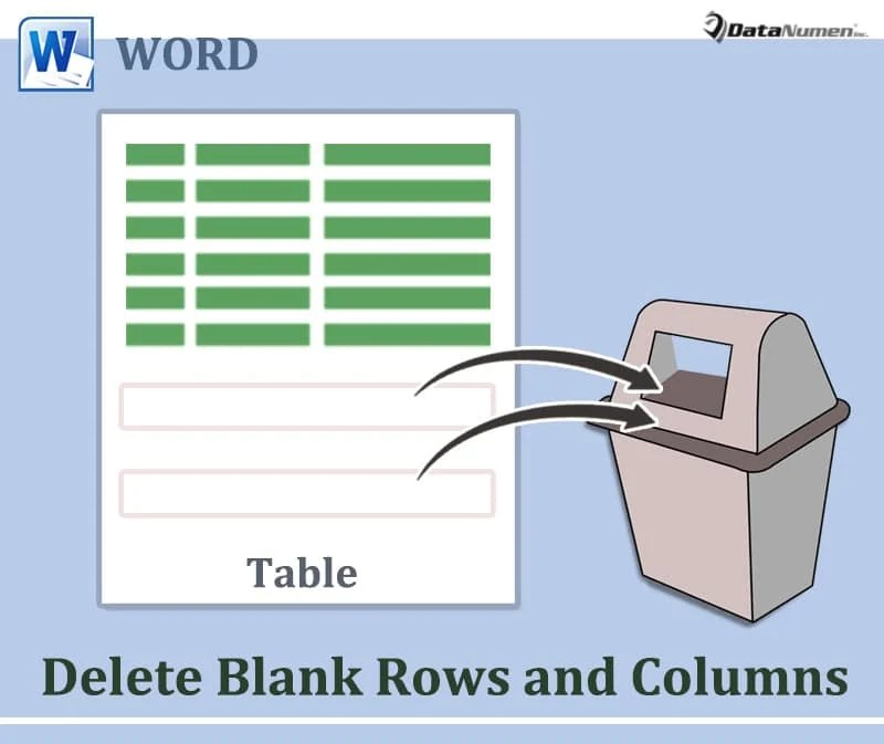 Delete Blank Rows and Columns in Your Word Table