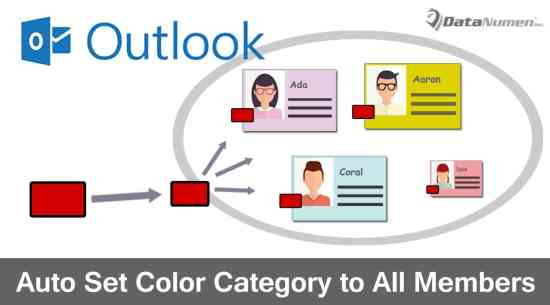 Auto Apply the Same Color Category to All Members when Categorizing a Contact Group in Outlook