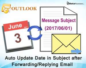 Auto Update the Date in Subject when Forwarding or Replying an Email in Outlook