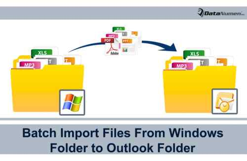 how to send a batch folder from outlook