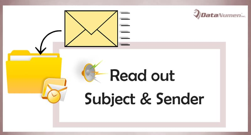 How to Let Outlook Auto Read out the Subject & Sender of Each