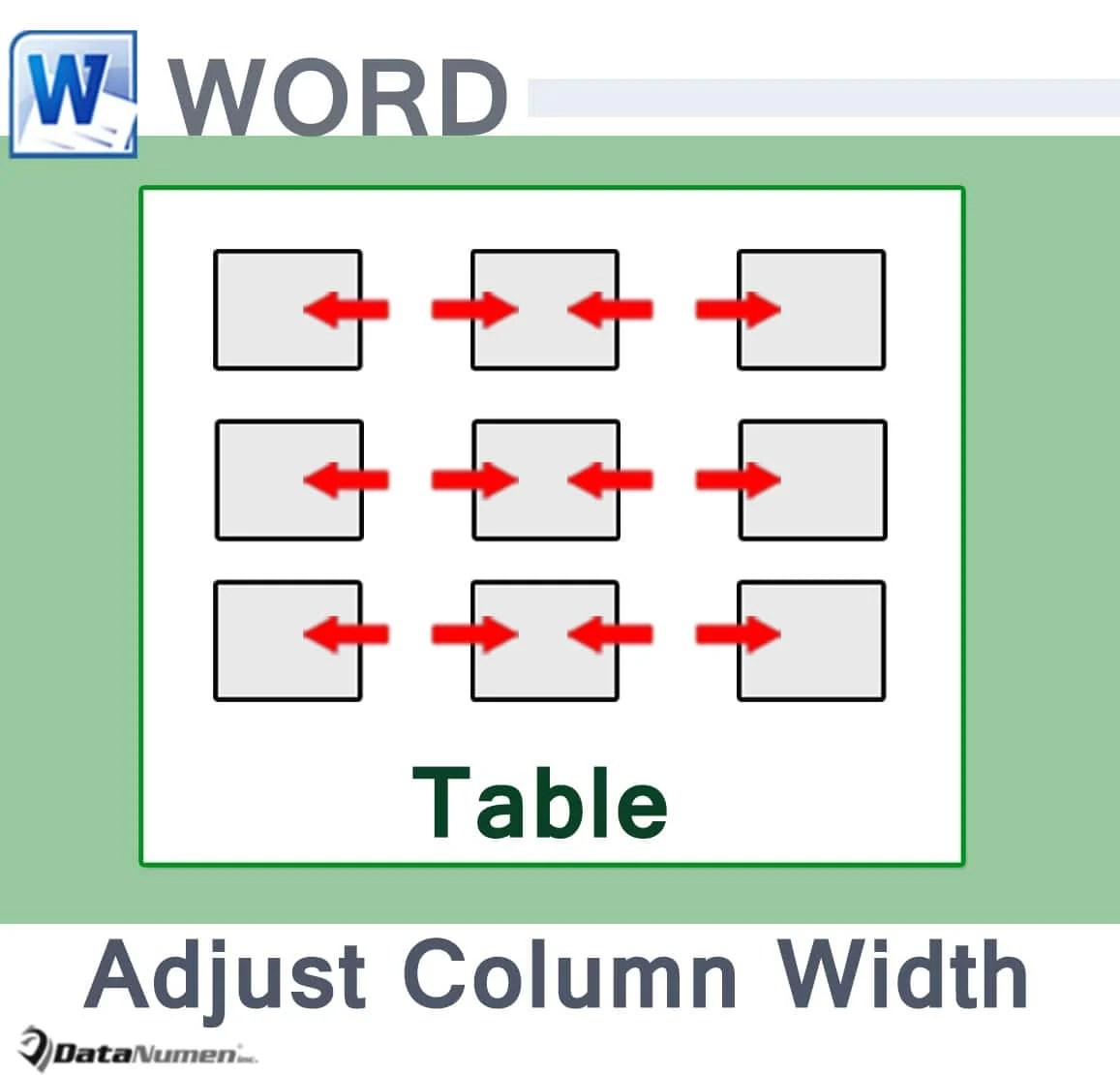 Adjust Column Width in Your Word Table
