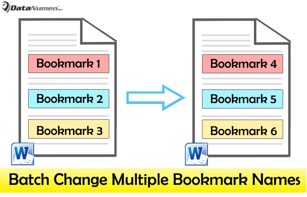 Batch Change Multiple Bookmark Names in Your Word Document