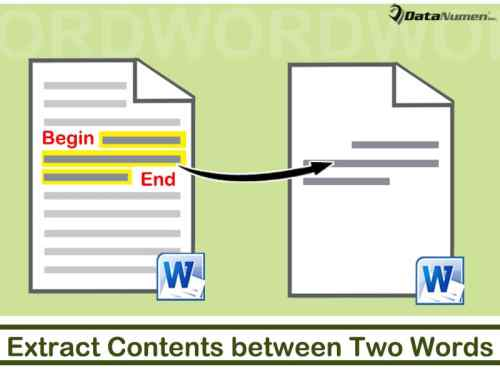 How To Extract Contents Between Two Specific Words From One Word