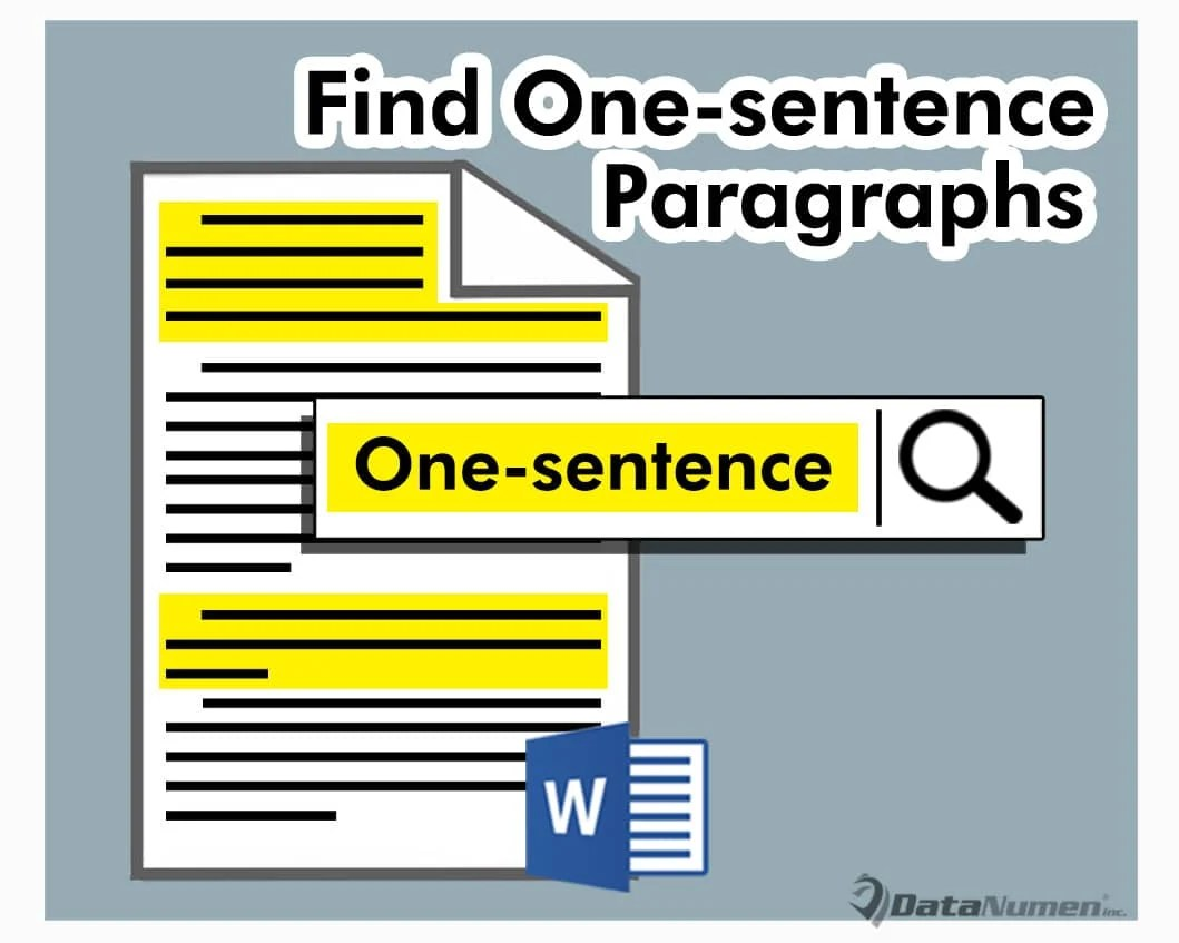 Find One-sentence Paragraphs in Your Word Document