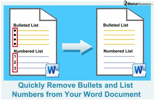 Remove Bullets and List Numbers from Your Word Document