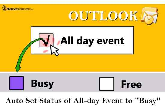 "Auto Set the Status of All Day Event to ""Busy"" in Your Outlook"