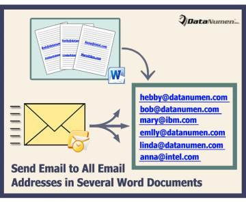 Quickly Send an Outlook Email to All Email Addresses Occurring in Several Word Documents
