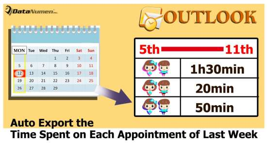 Auto Export the Time Spent on Each Appointment of Last Week in Outlook