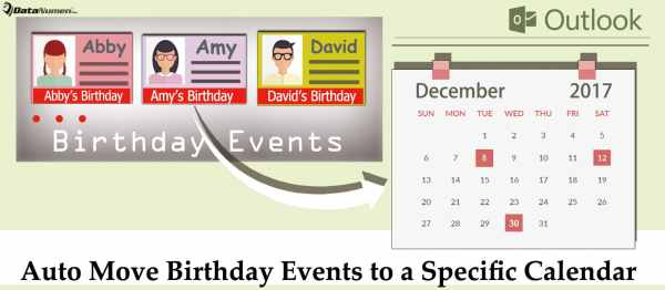 Auto Move Birthday Events to a Specific Calendar