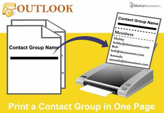 Print a Contact Group in Only One Page in Your Outlook