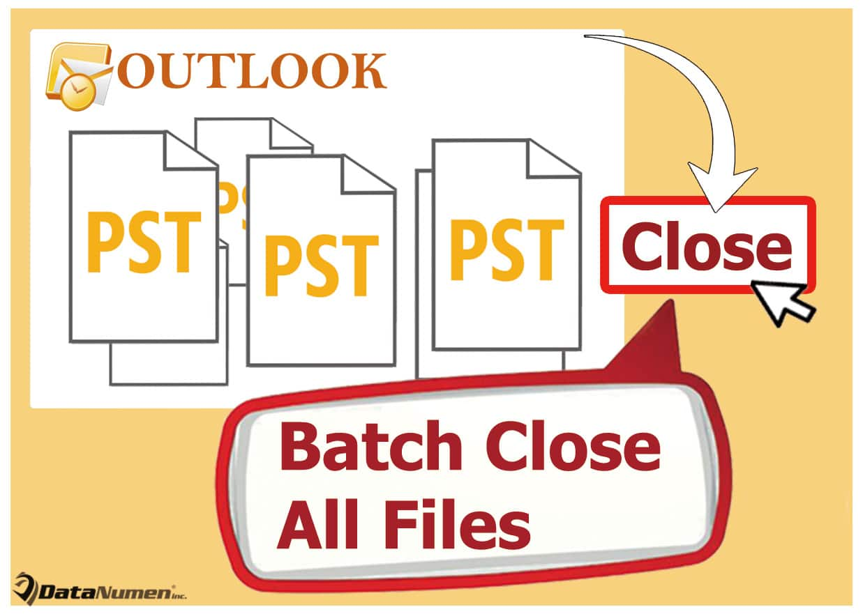 Batch Close All Outlook PST Files at Once in Your Outlook