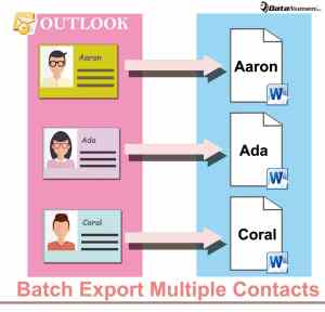 Batch Export Multiple Contacts as Word Documents in Outlook
