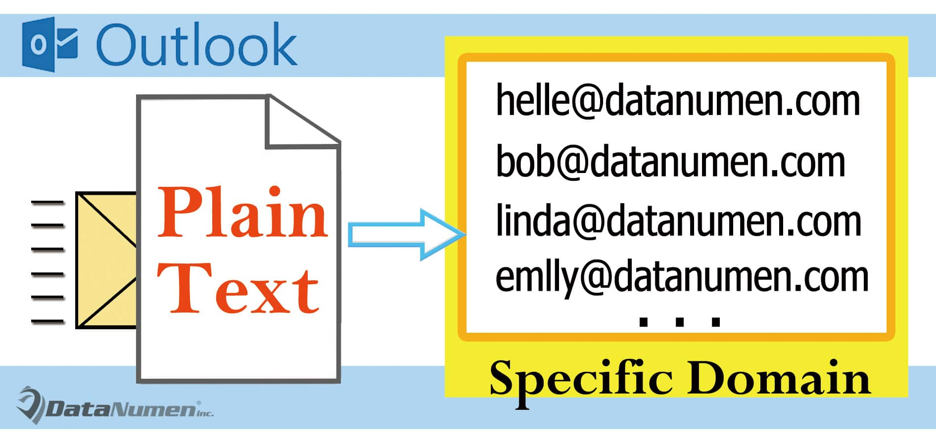 Send Plain Text Emails Only to Those in a Specific Domain via Outlook VBA
