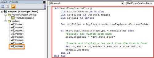 vba code quickly create new emails from a custom form
