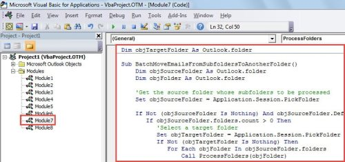 How to Batch Move Emails from All Subfolders of One Folder
