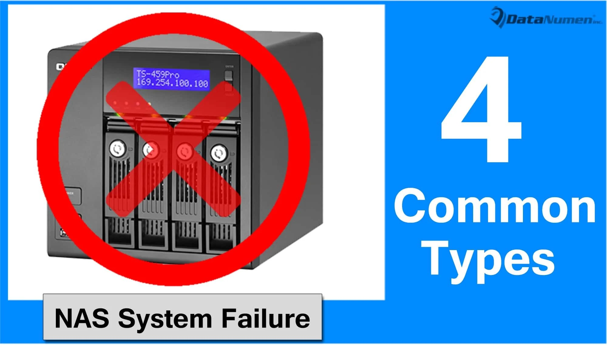 4 Common Types of Network Attached Storage (NAS) System Failures