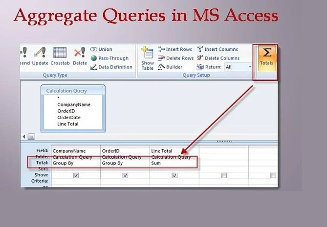 How to Use Aggregate Queries in MS Access - Data Recovery Blog