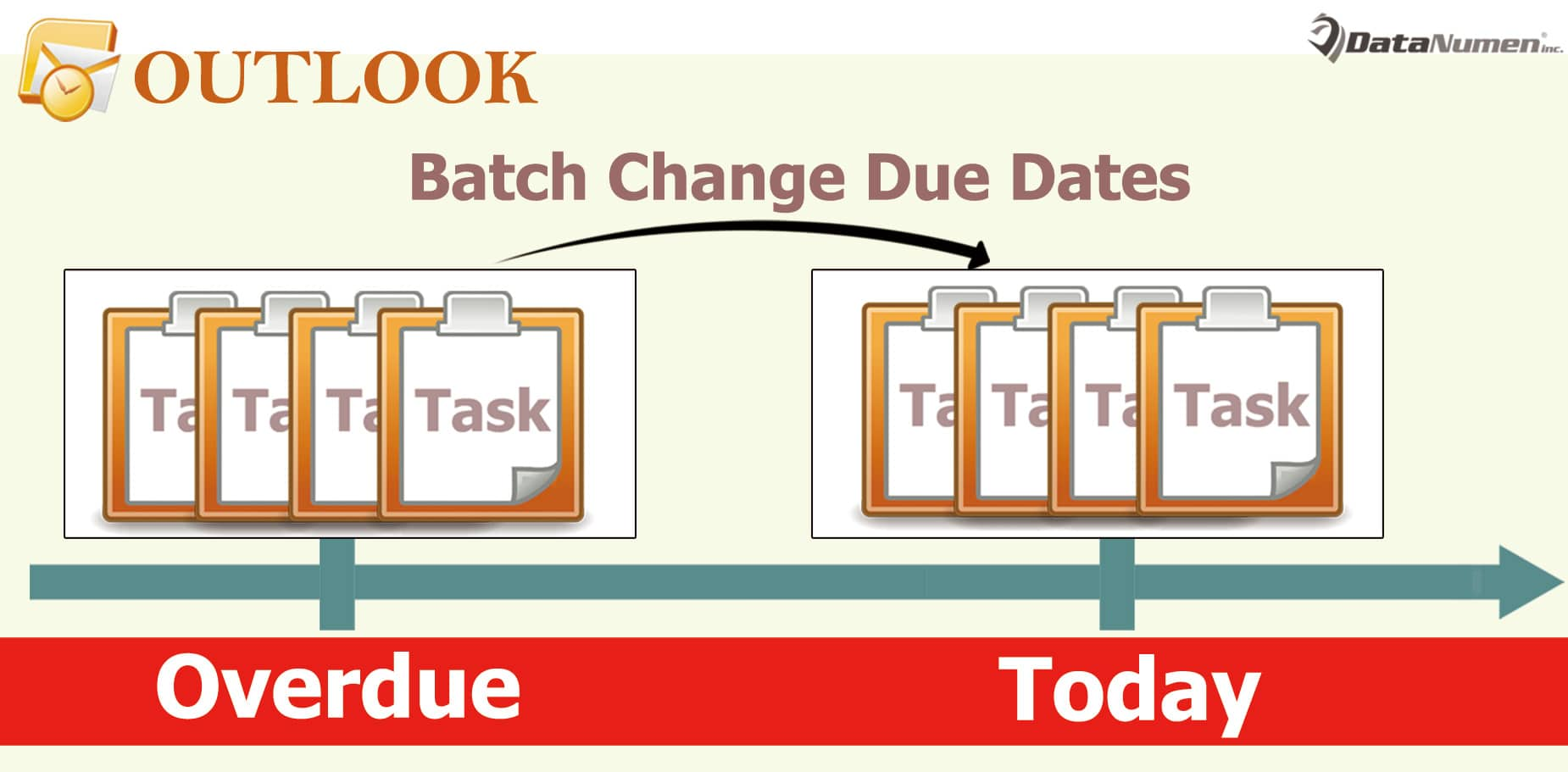 Batch Change All Overdue Tasks' Due Dates to Today in Outlook