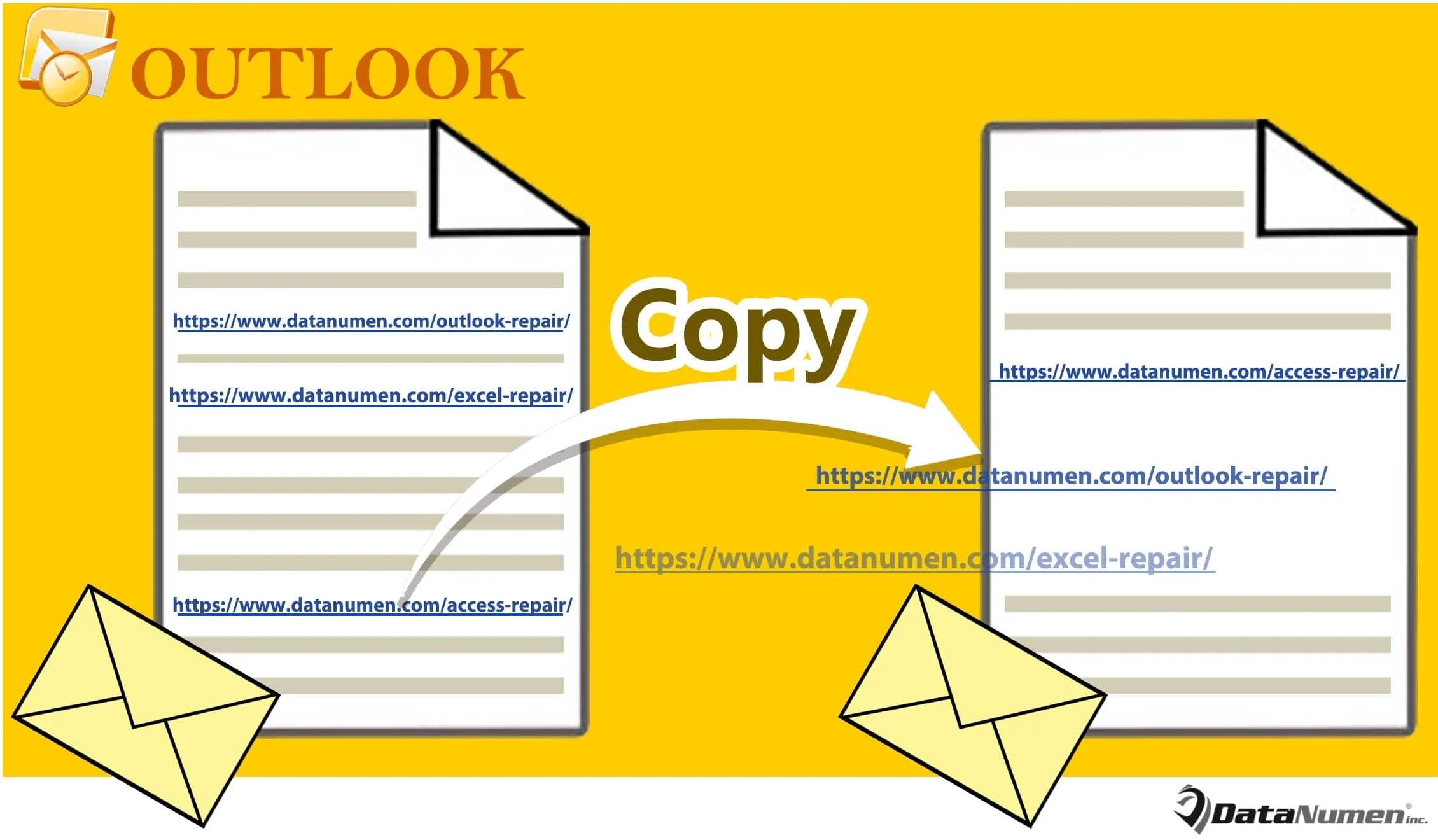 Quickly Copy All Embedded URLs from One Outlook Email to Another