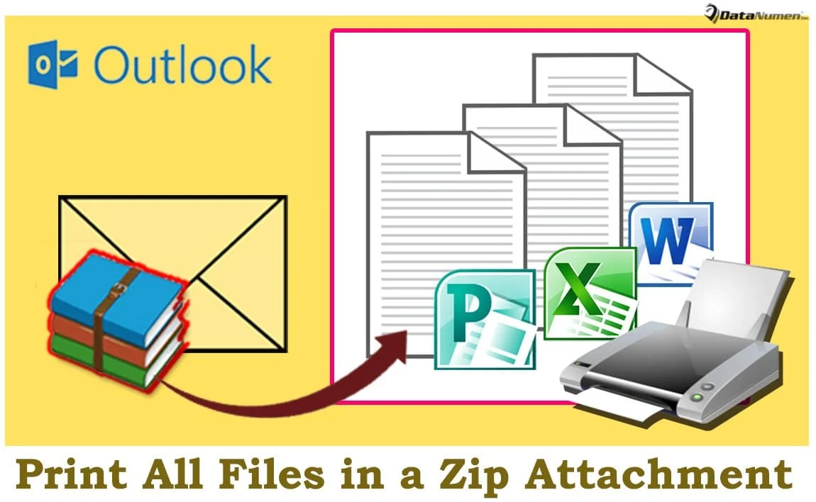 Quickly Print All Files in a Zip Attachment of an Outlook Email