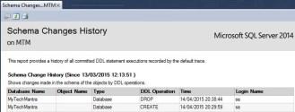 SQL Server's Schema Changes History