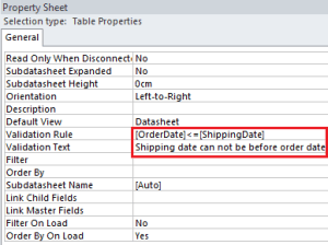 how to set criteria in access between two dates