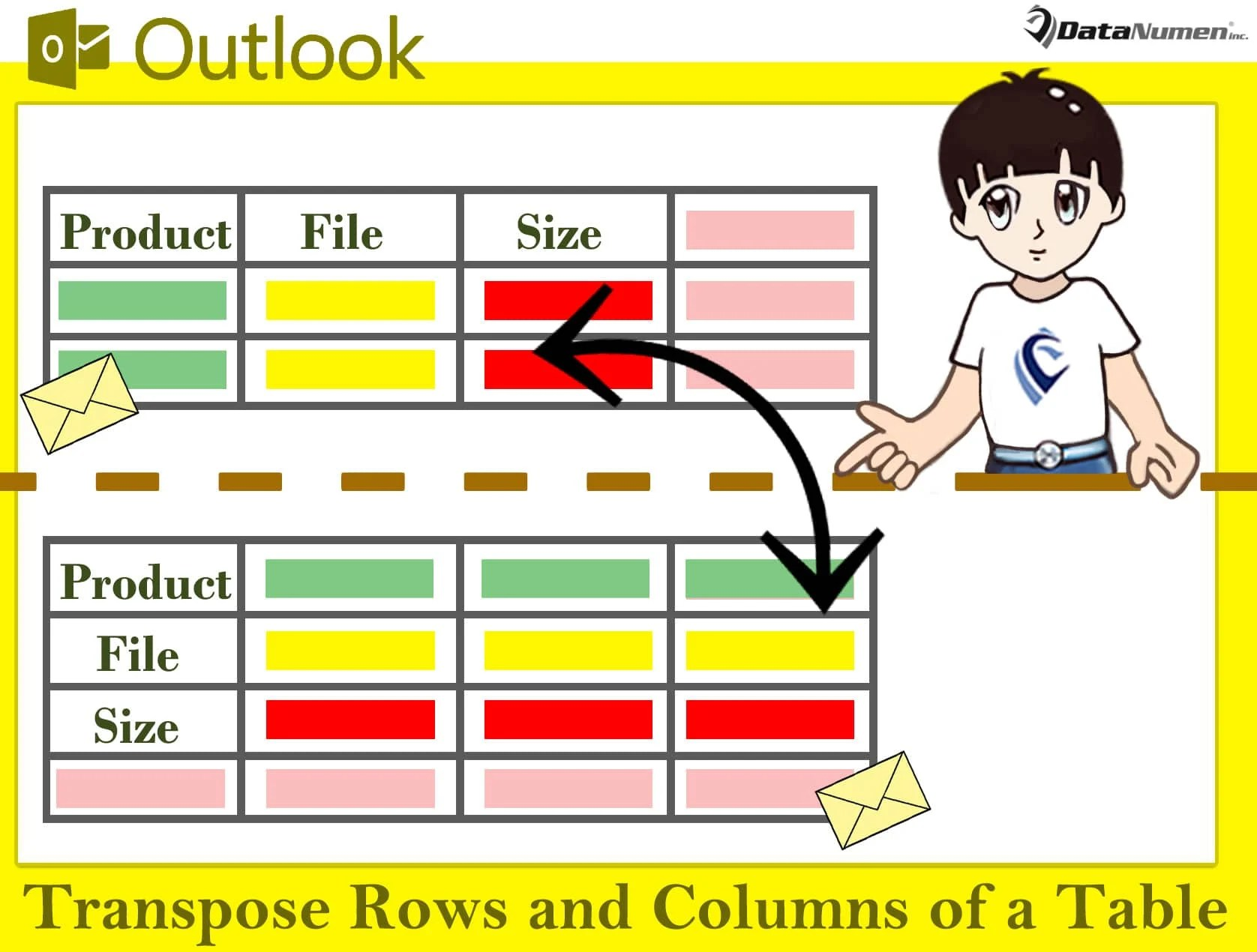 How To Quickly Transpose The Rows And Columns Of A Table In Your Outlook Email