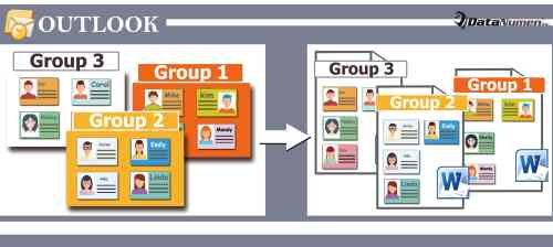 Batch Export Multiple Outlook Contact Groups as Word Documents