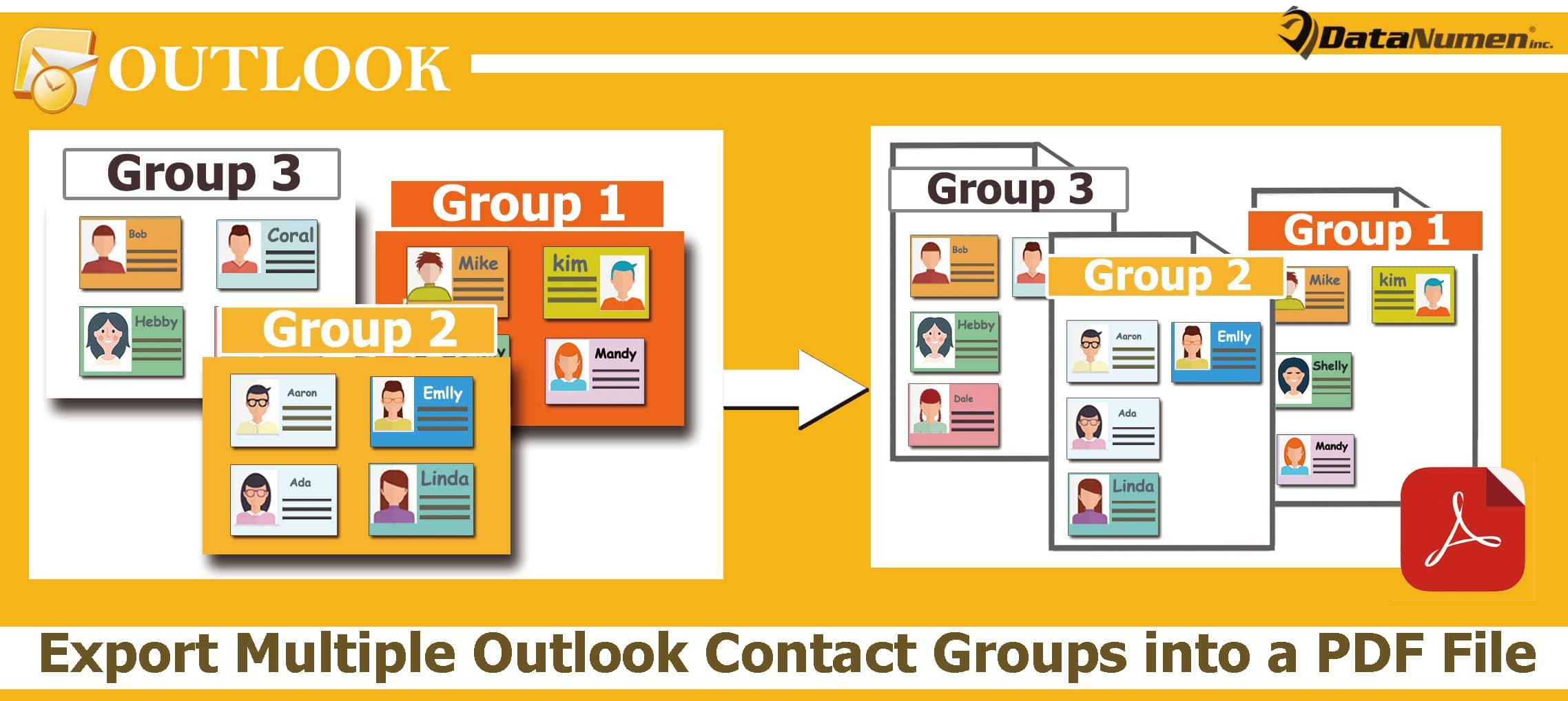 Quickly Export Multiple Outlook Contact Groups into a PDF File