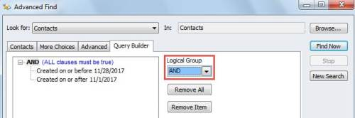 """""""Add"""" in Logical Group"""