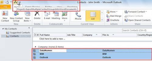 Run Macro on Selected Contact Groups