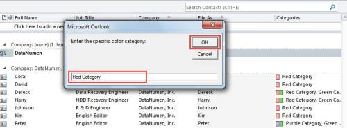 Specify a Color Category
