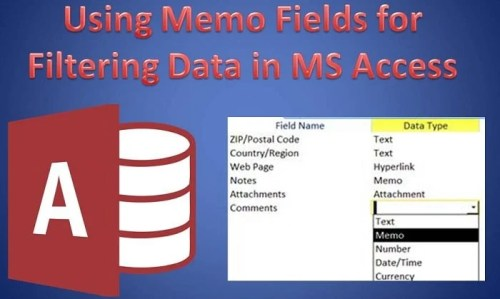 How to Use Memo Fields to Filter Data in MS Access - Data
