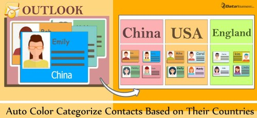 Auto Color Categorize Contacts Based on Their Countries