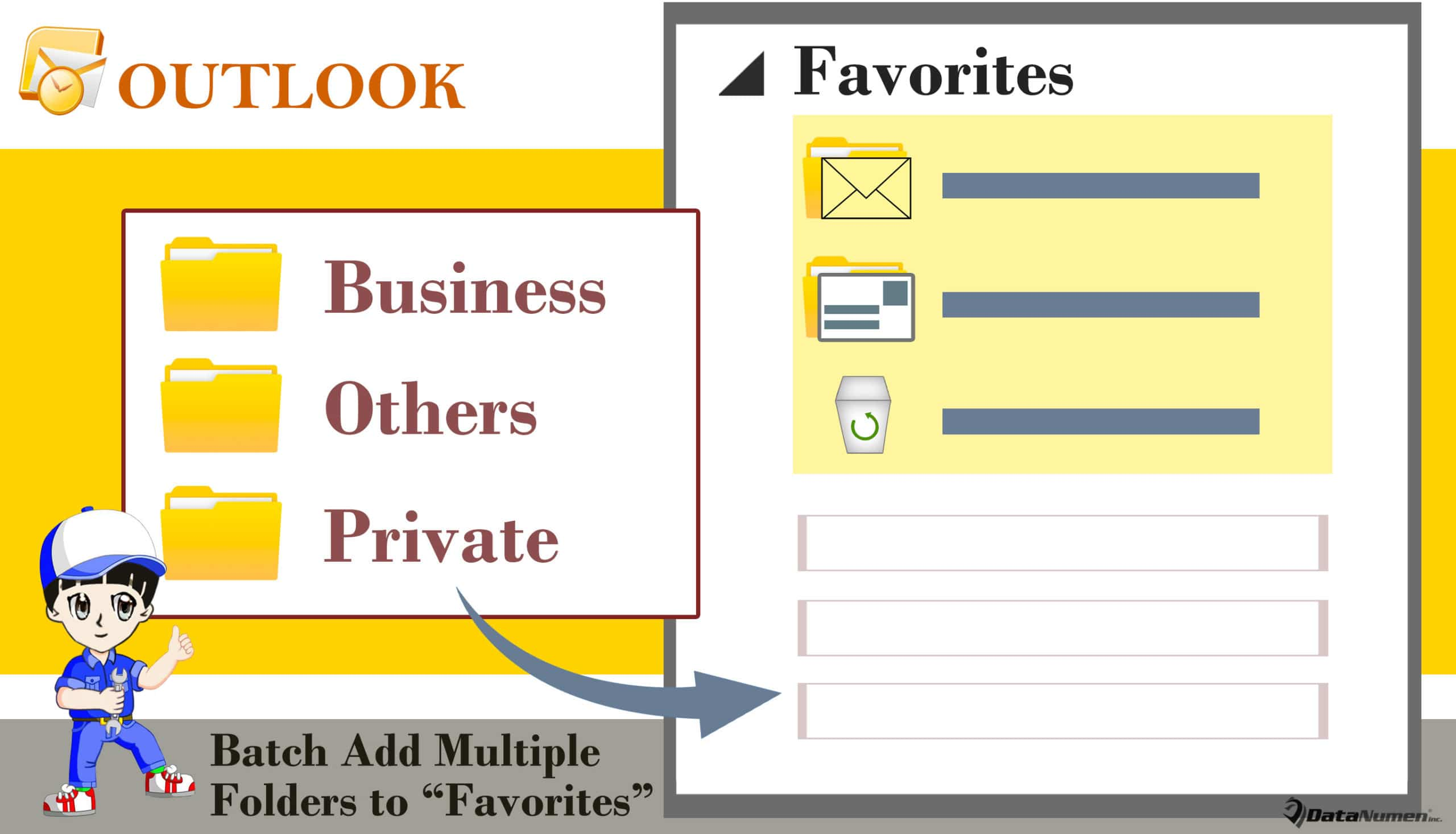 "Batch Add Multiple Folders to ""Favorites"" Section in Your Outlook"