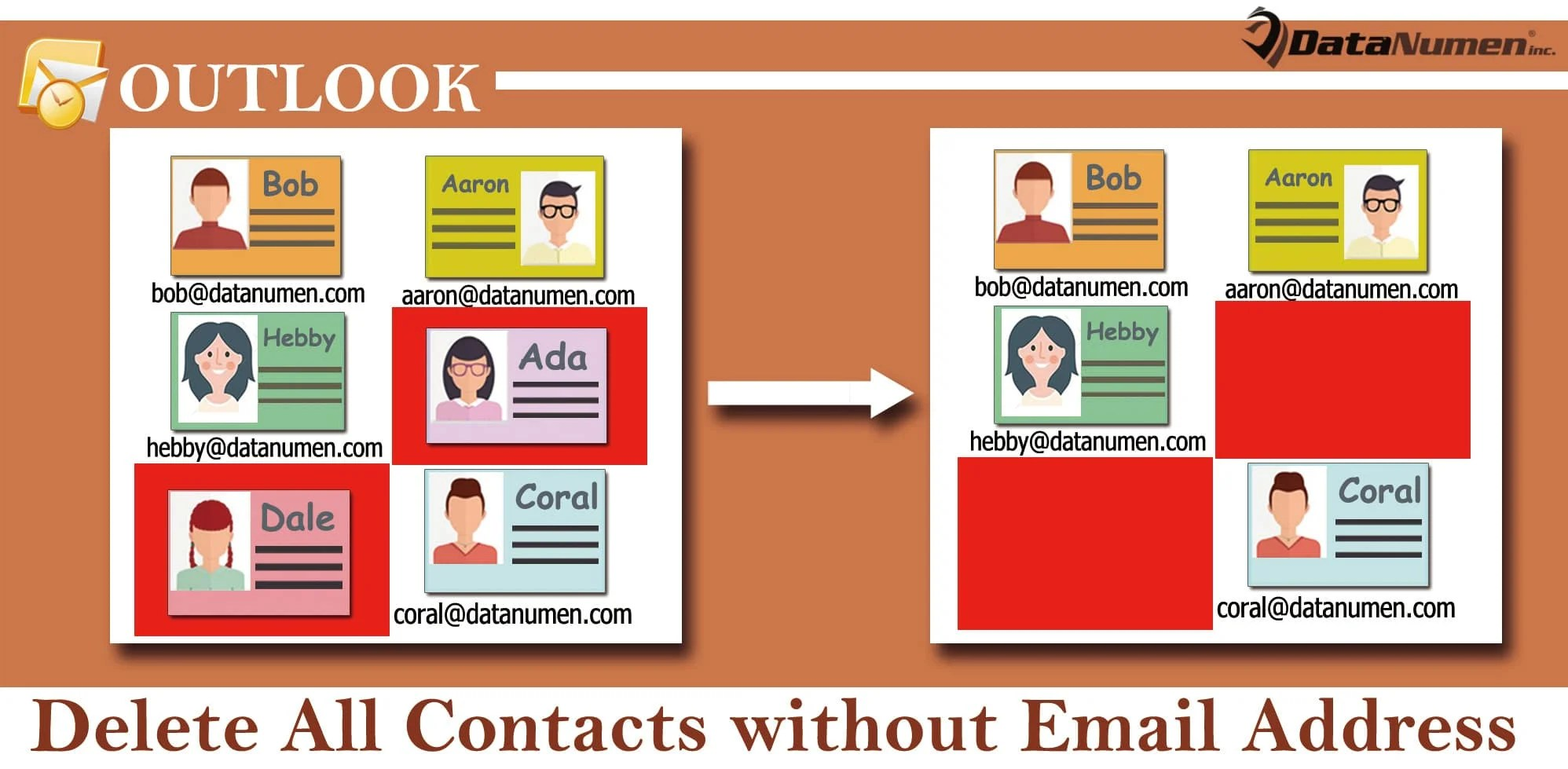 Batch Delete All Contacts without Email Address in Your Outlook