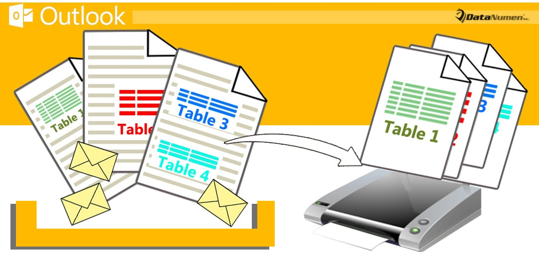 Batch Print All Tables of Multiple Outlook Emails