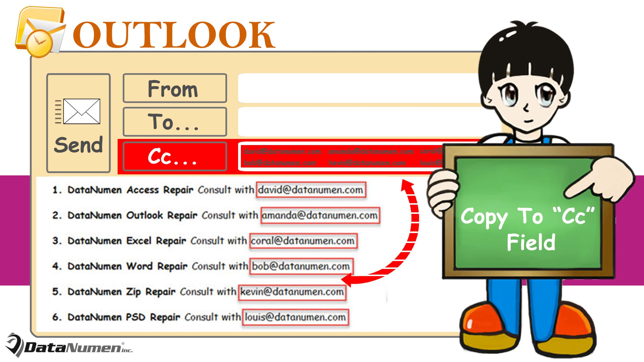 """Copy All Email Addresses Occurring in Body to """"CC"""" Field When Composing an Outlook Email"""