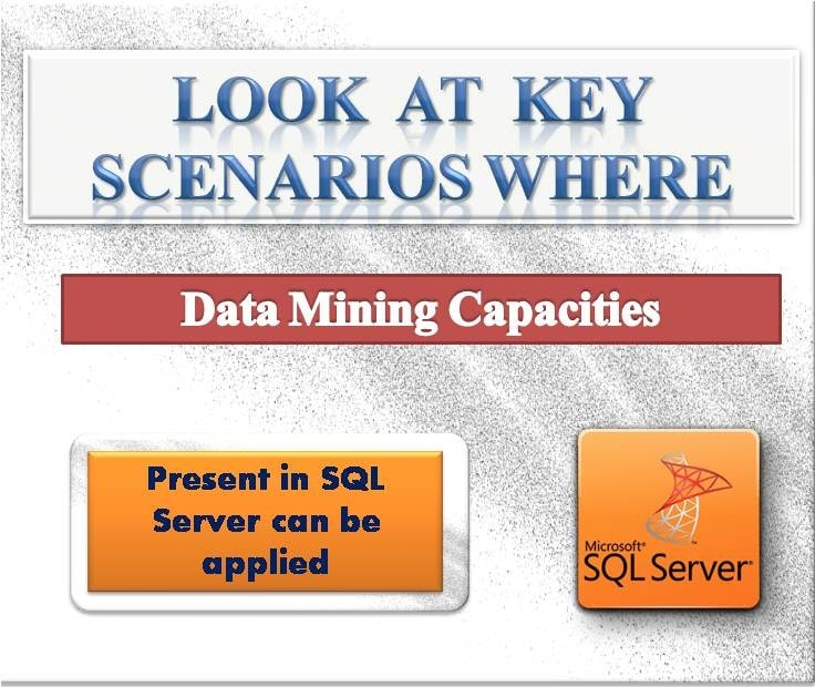 Look At Key Scenarios Where Data Mining Capacities Present In SQL Server Can Be Applied