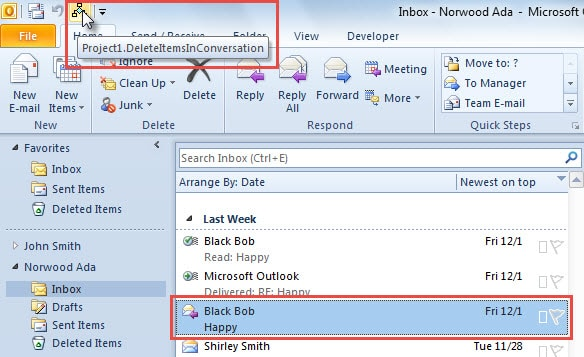 Run Macro on Selected Email