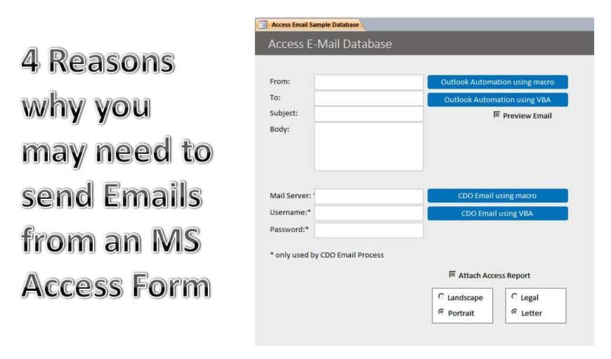 4 Reasons Why You May Need To Send Emails From An MS Access Form