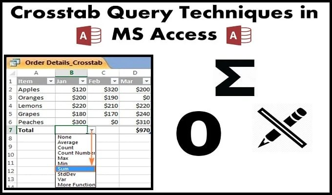 Crosstab Query Techniques In MS Access