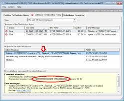 Unique Keys In SQL Server Replication Errors