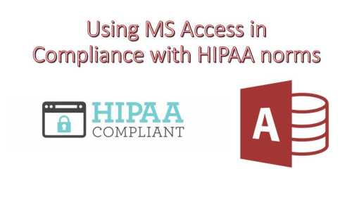 Can Access Be Used In Compliance With HIPAA Norms