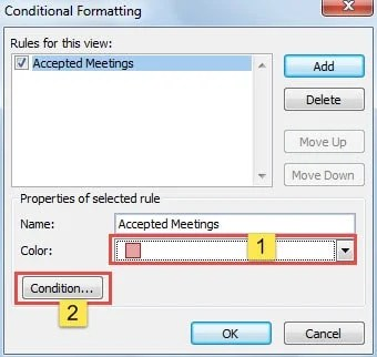How to Auto Change the Color of Accepted Meetings in Your