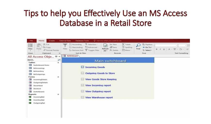 ms access database